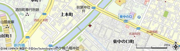 山形県酒田市東中の口町13周辺の地図