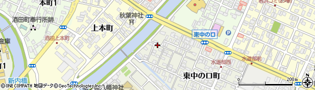 山形県酒田市東中の口町12-20周辺の地図