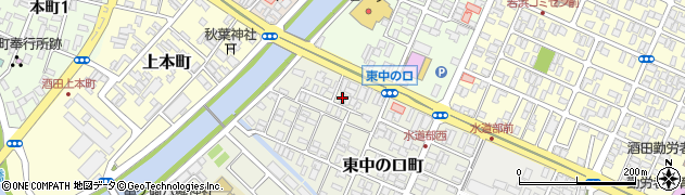 山形県酒田市東中の口町2-47周辺の地図