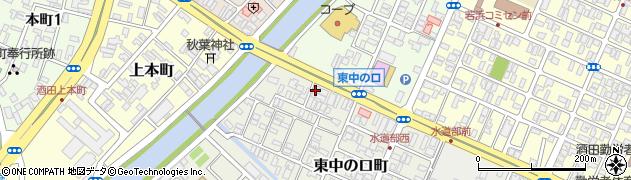 山形県酒田市東中の口町2-1周辺の地図