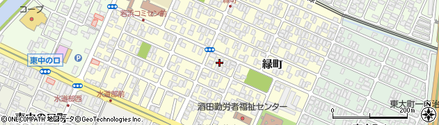 山形県酒田市緑町11周辺の地図