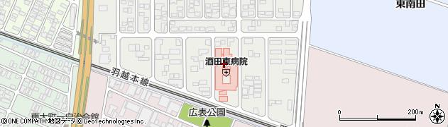 山形県酒田市こあら3丁目周辺の地図