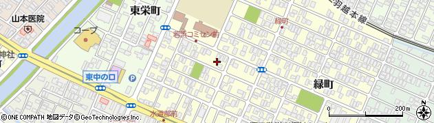 山形県酒田市若浜町周辺の地図