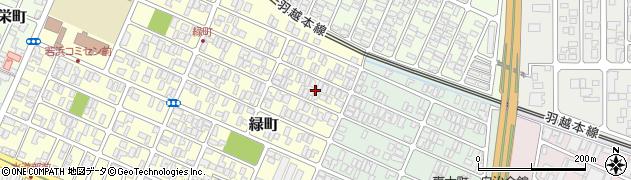 山形県酒田市緑町5周辺の地図