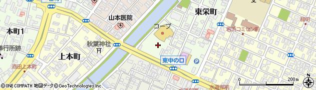 山形県酒田市東栄町10周辺の地図