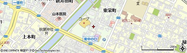 山形県酒田市東栄町11周辺の地図