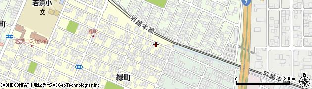 山形県酒田市緑町4周辺の地図