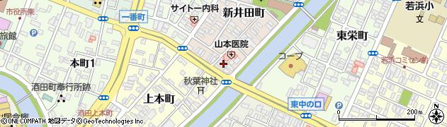 山形県酒田市新井田町15周辺の地図