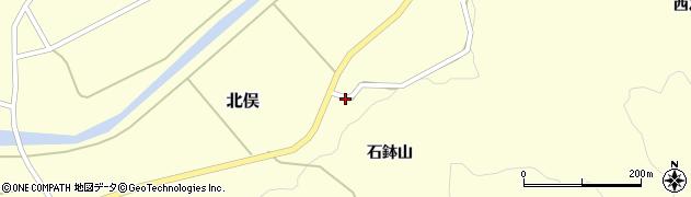山形県酒田市北俣石鉢山47周辺の地図