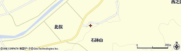 山形県酒田市北俣石鉢山44周辺の地図