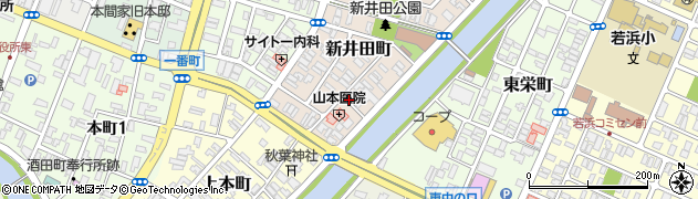 山形県酒田市新井田町11周辺の地図