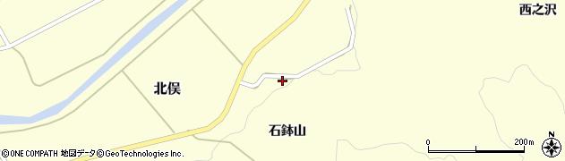 山形県酒田市北俣石鉢山33周辺の地図