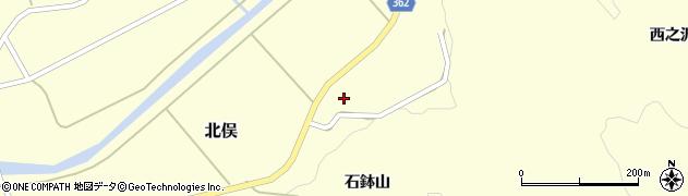 山形県酒田市北俣岡谷地96周辺の地図