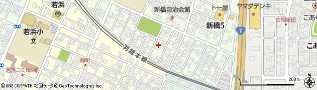 山形県酒田市新橋4丁目周辺の地図