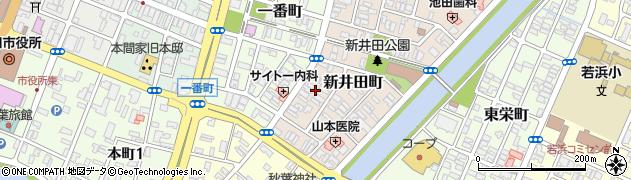 山形県酒田市新井田町13周辺の地図