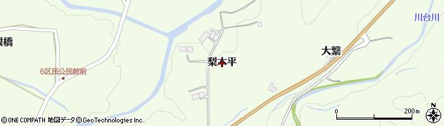 岩手県一関市萩荘(梨木平)周辺の地図