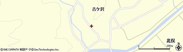 山形県酒田市北俣谷地長根周辺の地図