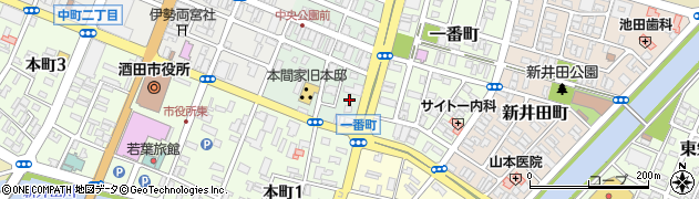 山形県酒田市二番町10周辺の地図