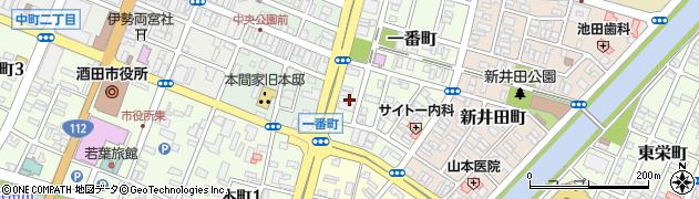 山形県酒田市一番町12周辺の地図