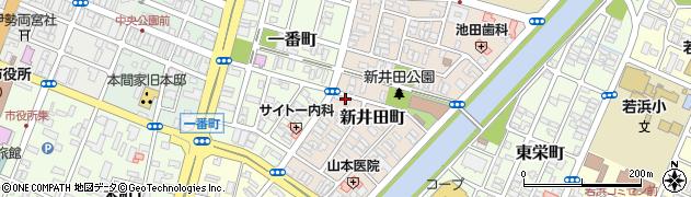 山形県酒田市新井田町周辺の地図