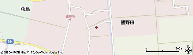 山形県酒田市熊野田村南14周辺の地図