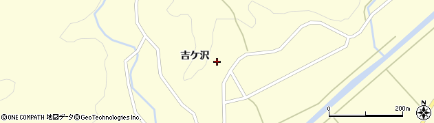 山形県酒田市北俣吉ケ沢周辺の地図