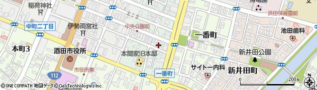 山形県酒田市二番町9周辺の地図