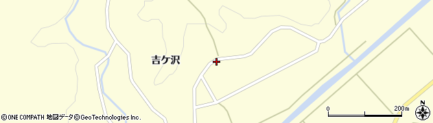 山形県酒田市北俣吉ケ沢90周辺の地図