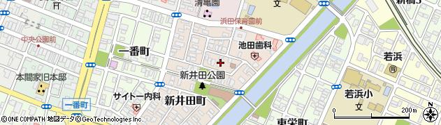 山形県酒田市新井田町6周辺の地図