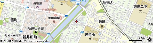 山形県酒田市東栄町3周辺の地図