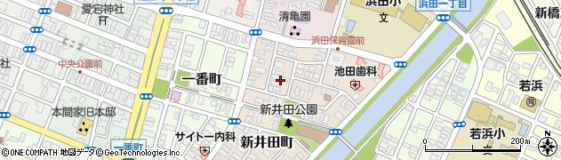 山形県酒田市新井田町4周辺の地図