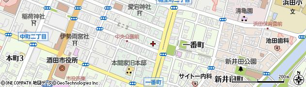 山形県酒田市二番町6周辺の地図