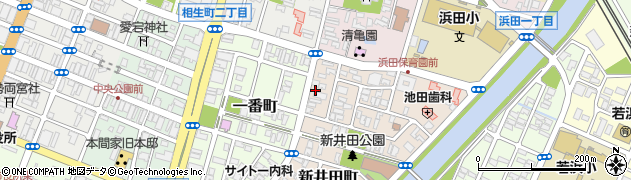 山形県酒田市新井田町3周辺の地図