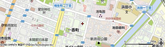 山形県酒田市一番町6周辺の地図
