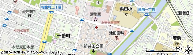 山形県酒田市新井田町2周辺の地図