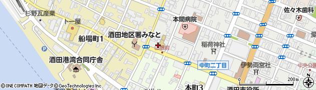 山形県酒田市中町3丁目7周辺の地図