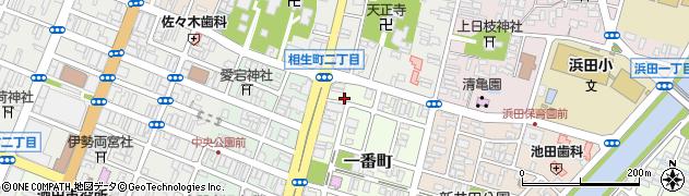 山形県酒田市一番町2周辺の地図