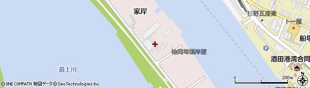 山形県酒田市宮野浦家岸585周辺の地図