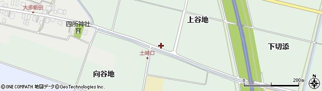 山形県酒田市漆曽根上谷地周辺の地図