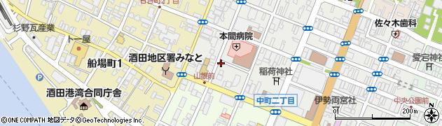 山形県酒田市中町3丁目6周辺の地図