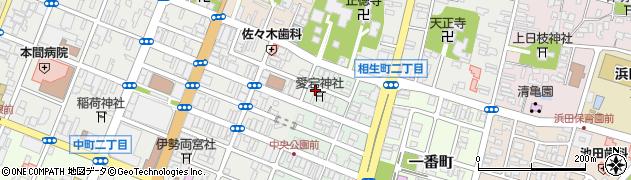 山形県酒田市二番町周辺の地図