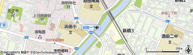 山形県酒田市東栄町1周辺の地図