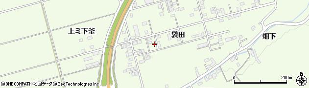 岩手県一関市萩荘袋田周辺の地図