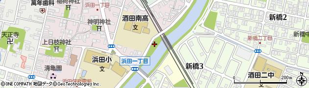 山形県酒田市若浜町18周辺の地図