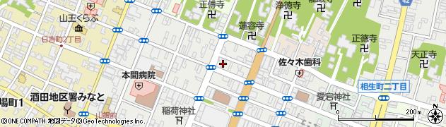 山形県酒田市中町2丁目周辺の地図