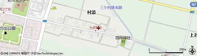 山形県酒田市大多新田54周辺の地図