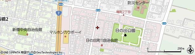 山形県酒田市日の出町1丁目周辺の地図