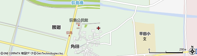 山形県酒田市荻島腰廻周辺の地図