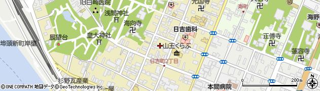 山形県酒田市日吉町2丁目周辺の地図