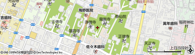 山形県酒田市中央東町4周辺の地図